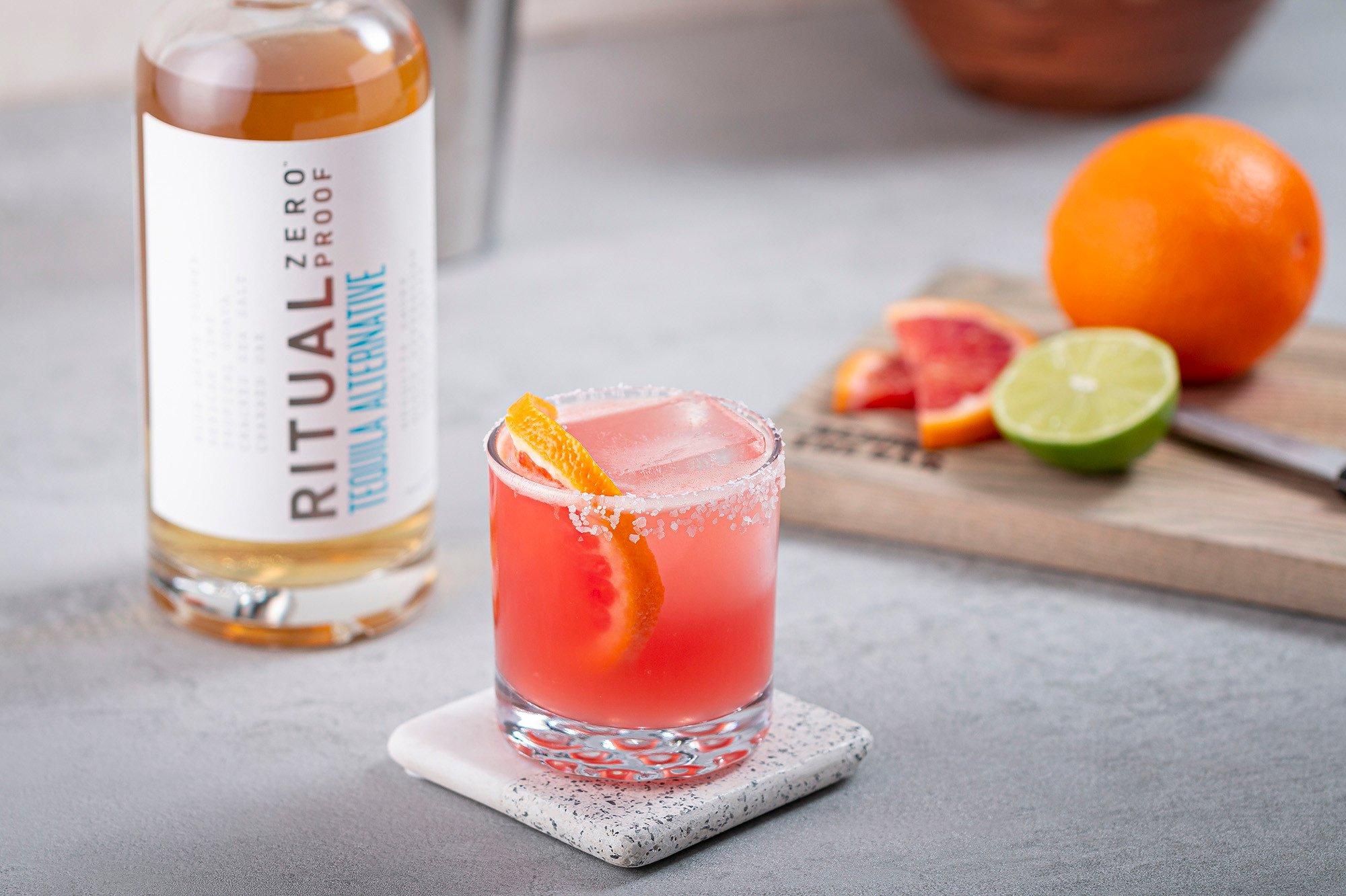 blood orange non-alcoholic margarita