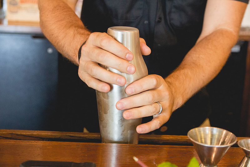 Chilled cocktail shaker