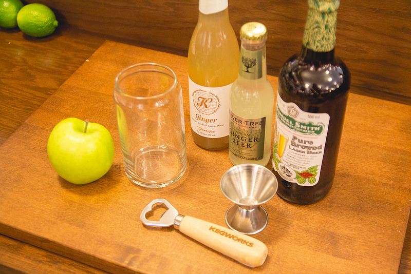 Ginger-Apple-Shandy-tools-and-ingredients