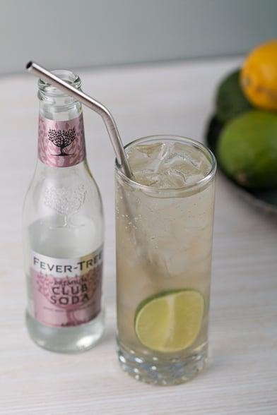 ginger lime shrub healthy cocktail