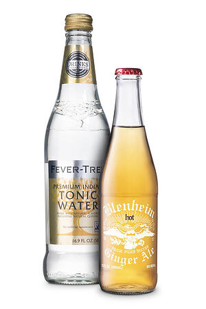 tonic water and soda