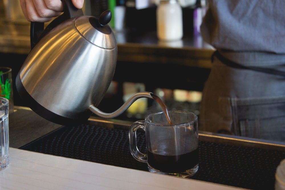 coffee being poured for a cocktail