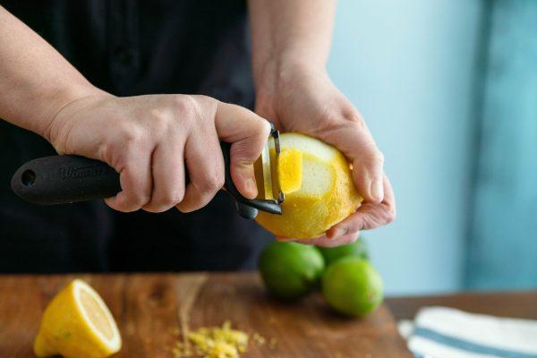Lemon Swath Cocktail Garnish