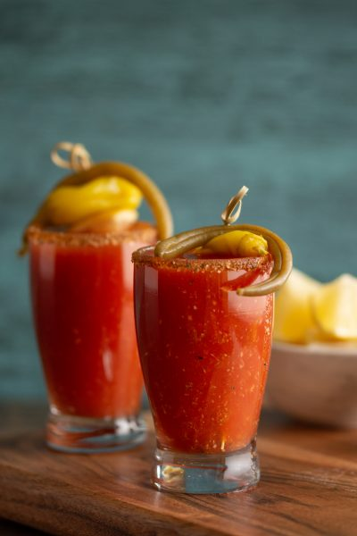 Bloody Mary Shooters Vertical