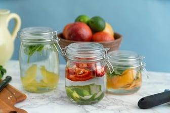 Hinged Apothecary Glass Garnish Jar