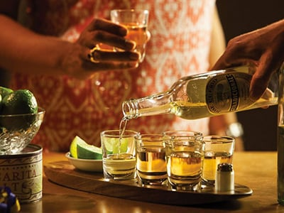 Cantinero Tequila Tasting Set with Serving Tray & Shot Glasses