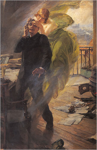 "Albert Maignan's ""Green Muse"" (1895)."