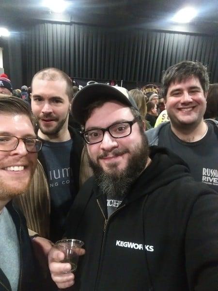 Alex at Extreme beer fest