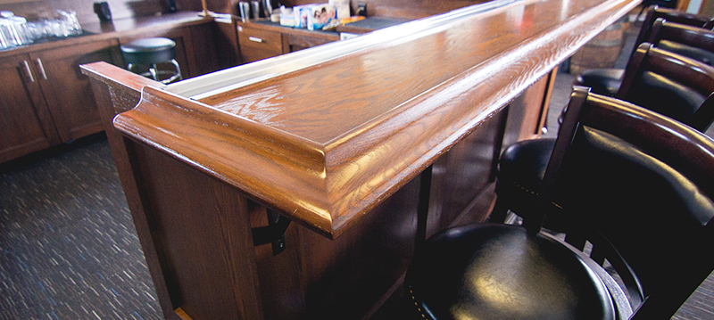 bar rail molding install