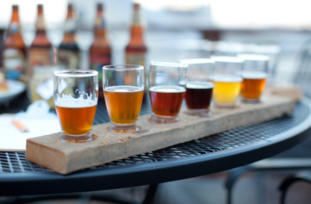 Beer Tasting Paddle by Style Me Pretty