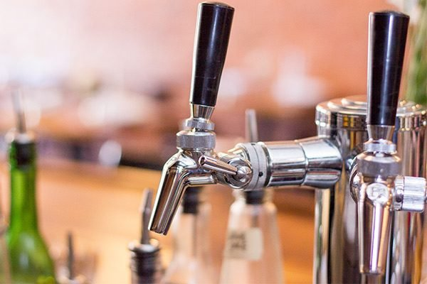 A close-up view of the Perlick 650SS Flow Control