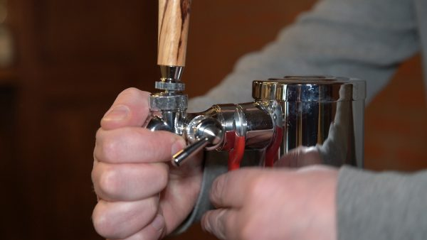 Step 7: Remove beer faucet.