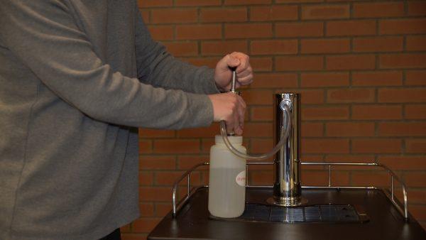 Step 9: Rinse beer lines.