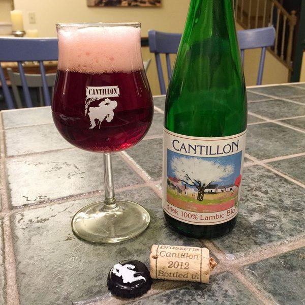 Cantillon 2012 in a glass