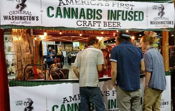 Dads and Dudes Breweria debuting the first CBD beer at the Great American Beer Festival in 2015.