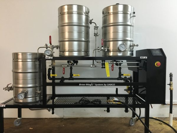 The brewing system of Sacred Vice Brewing Company
