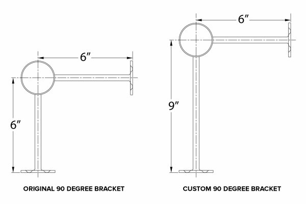Custom Bar Rail Brackets