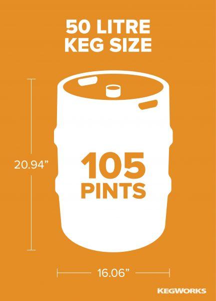 50 Litre Keg Size