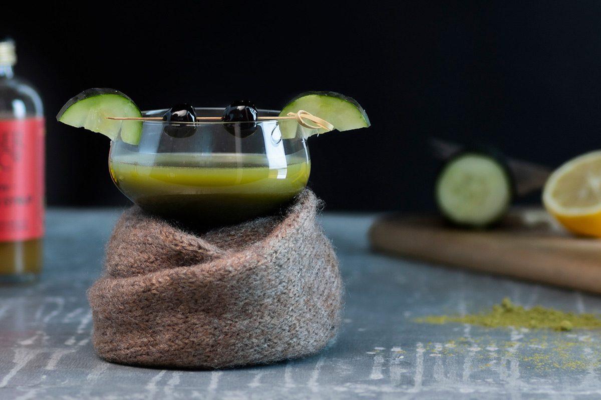 The Matcha-lorian Baby Yoda Cocktail
