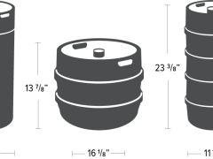 Guide to Beer Keg Sizes and Dimensions