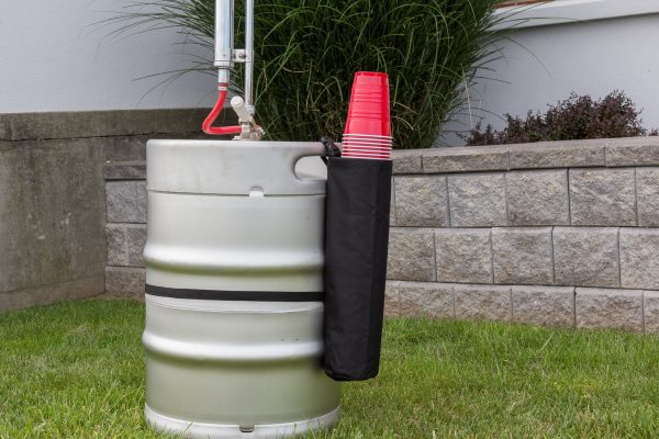 Keg of beer with keg buddy to hold cups