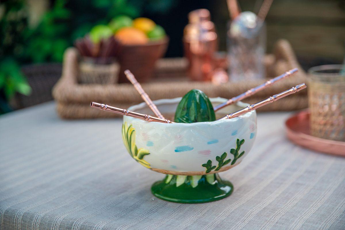 Scorpion Tiki Bowl With Straws