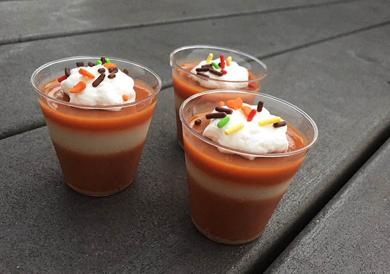 pumpkin spiced latte jello shots