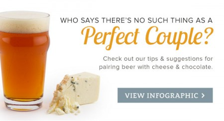 Perfect Couple Beer, Cheese, & Chocolate Pairings