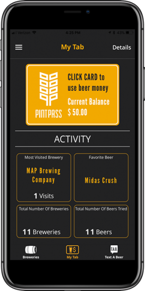 Photos from the newly created PintPass app