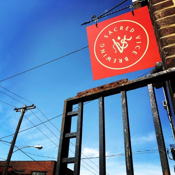 The Sacred Vice flag flies, a brewery opening a tasting room in Philadelphia, PA