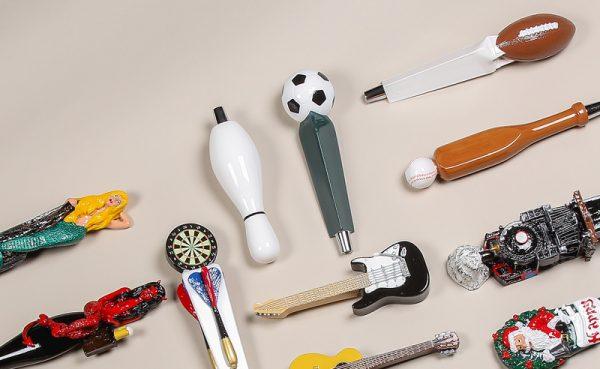 A sampling of Kegworks novelty tap handles