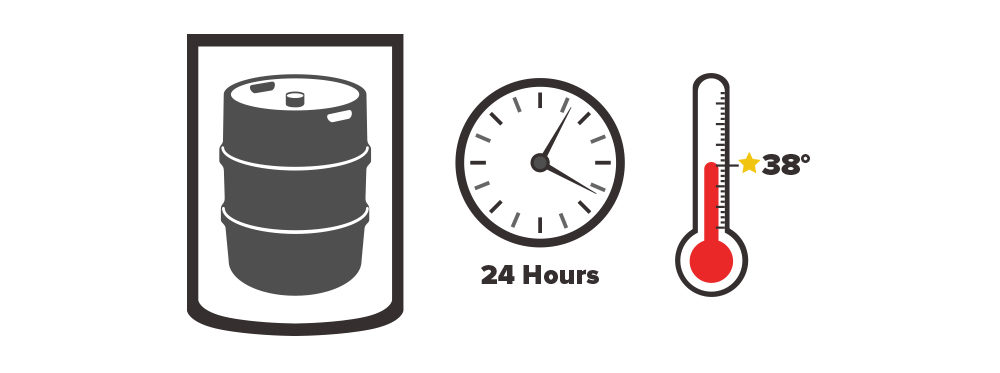 chill a new keg for 24 hours