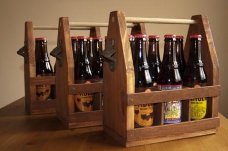Wooden Beer Bottle Tote from the New Hobbyist