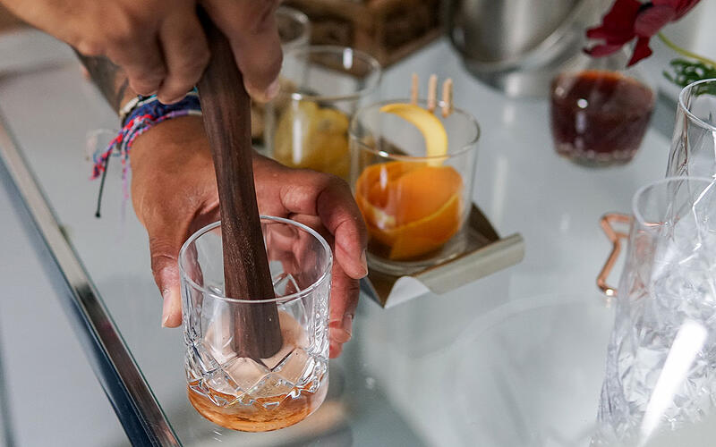 Muddling a Cocktail