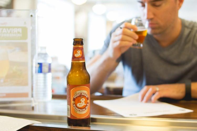 collin tasting beer