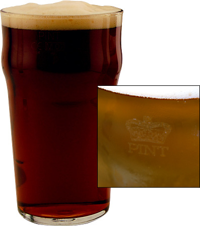 Authentic Imperial Pint with Crown Seal