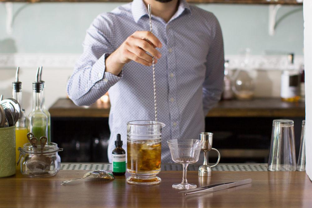 cocktail stirring