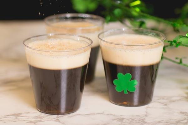 Irish Coffee Jello Shots