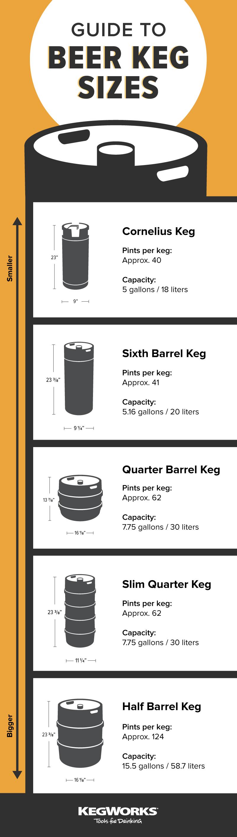 Keg Size Infographic