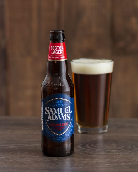 New England Patriots craft beer Samuel Adams Boston Lager
