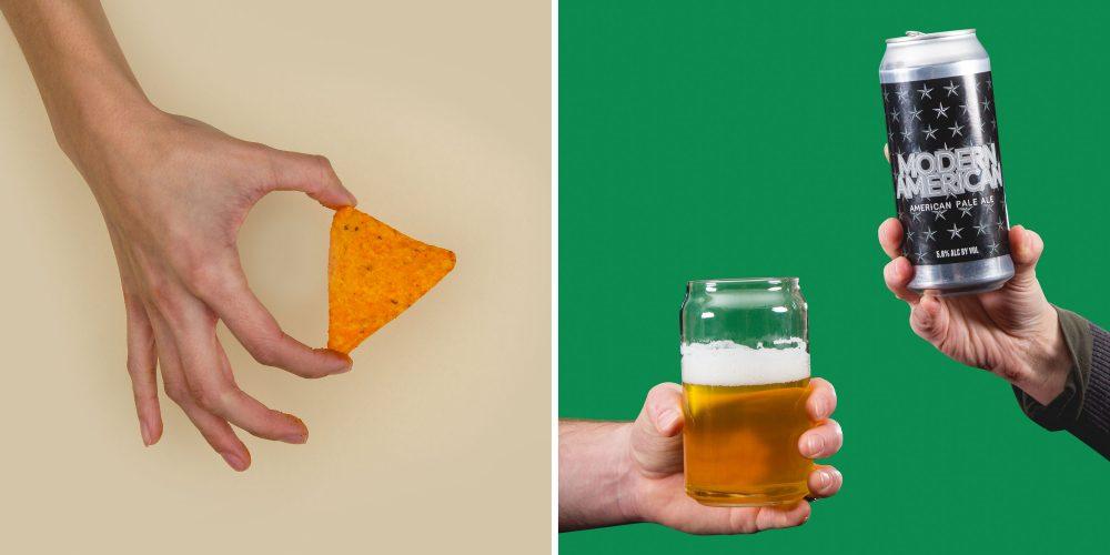 beer and doritos