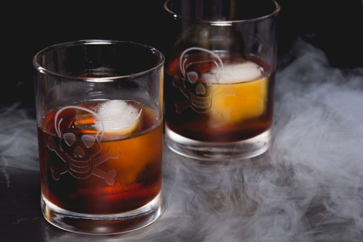 chocolate halloween cocktail