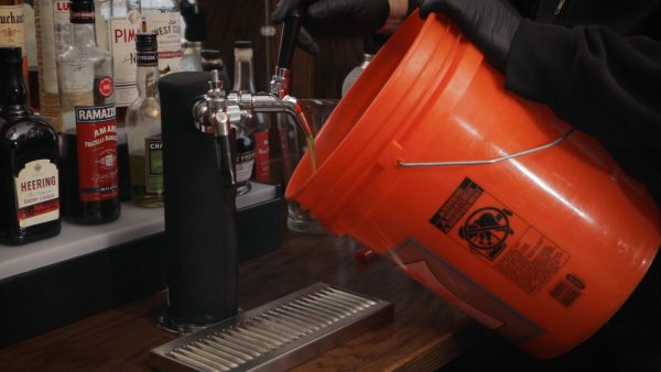 how to clean beer lines with a cleaning keg, step 5
