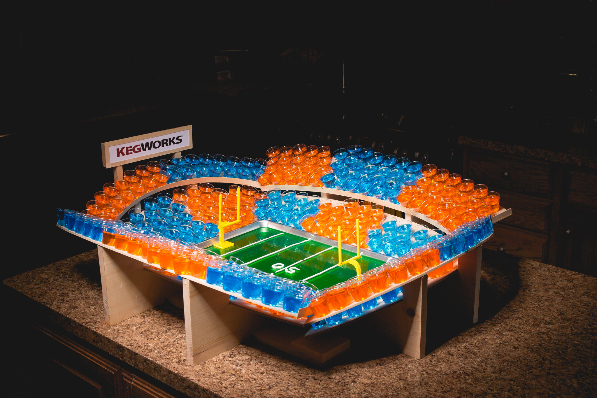 jello shot football stadium