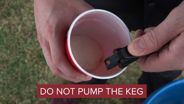 don't pump keg right away