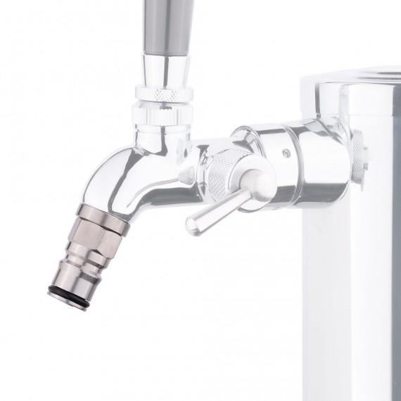 ball lock spout faucet