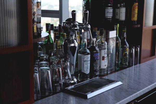 Beer Drip Tray on Bar