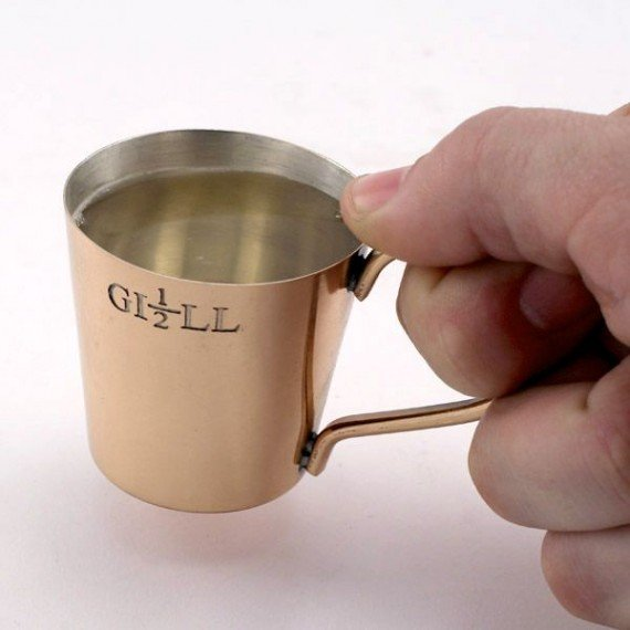 A half gill glass is made to help you drink like a pirate.
