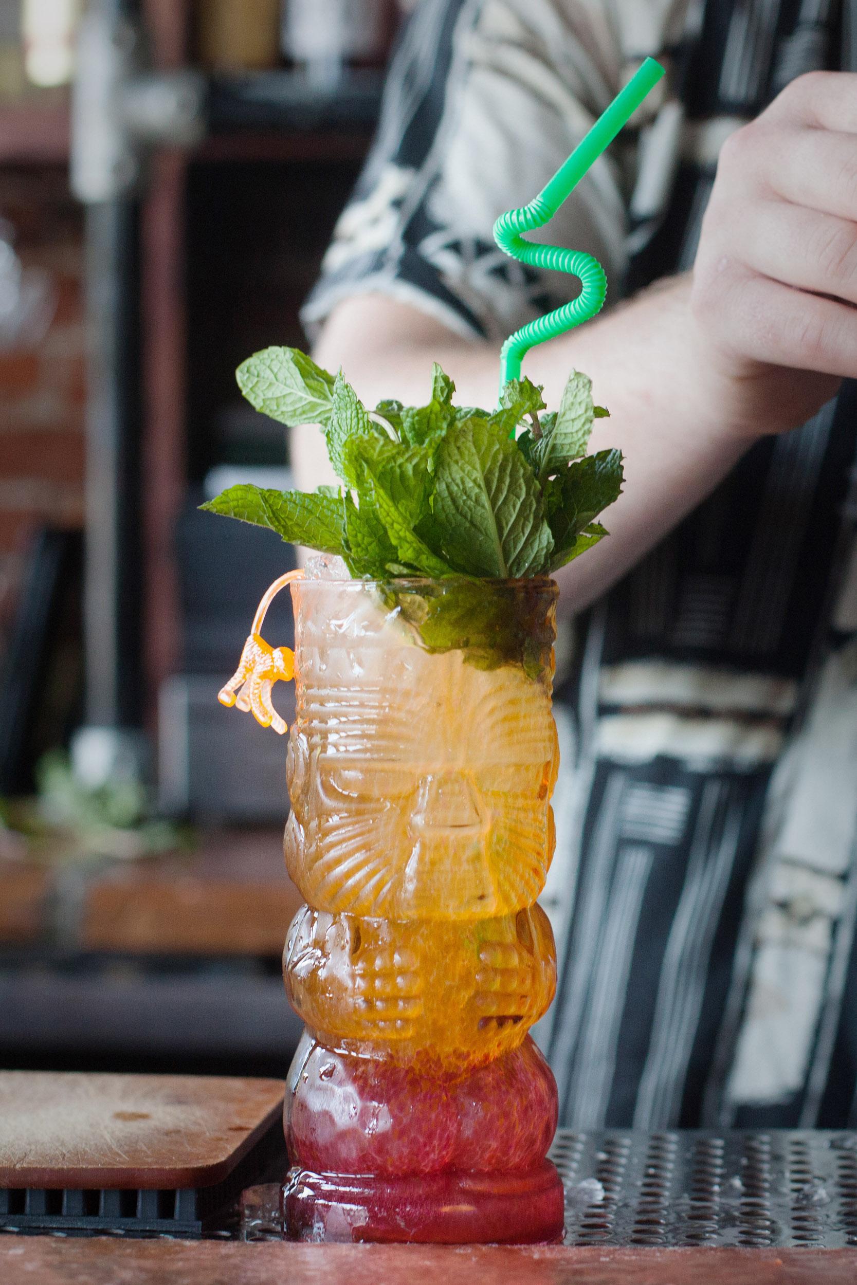 veiled pearl tiki cocktail