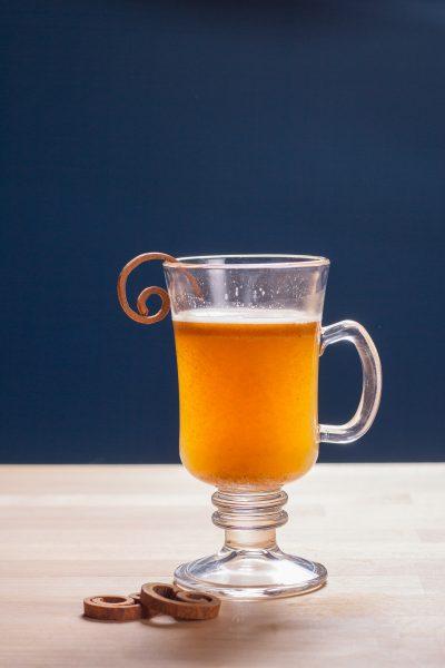 Hot Miso Brown Butter Rum Recipe Vertical Shot